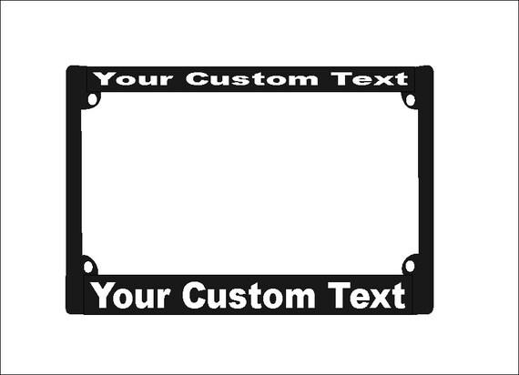 Custom Motorcycle License Plate Frame Custom Motorcycle | Etsy