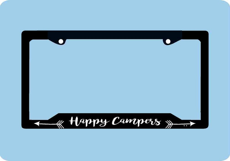 Happy Camper License Plate Frame | Camping License Plate Frame | Mountains  Arrows Adventure License Plate Frame | Car Accessories