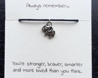Elephant bracelet, best friend gift, best friend bracelet, friendship bracelet, sister gift, elephant string bracelet, gift, string bracelet