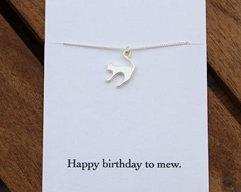 Cat necklace, cat lover gift, cat jewellery, cat gift, silver cat necklace, birthday gift, cat lover necklace, kitten necklace, cat jewelry