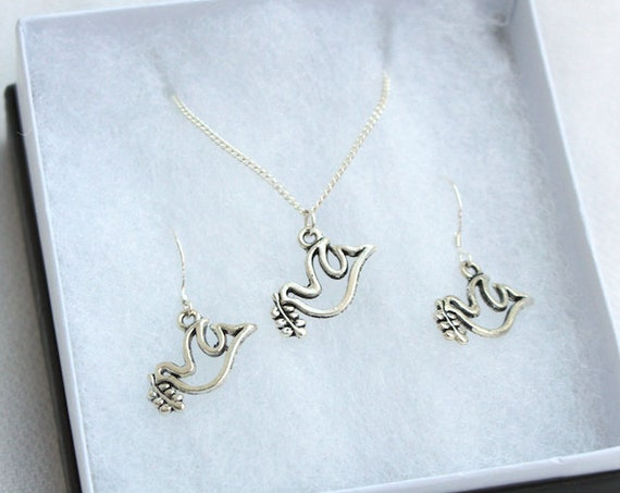 Dove Necklace and Earring Set