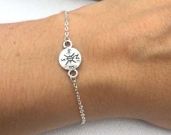 Silver Compass Bracelet