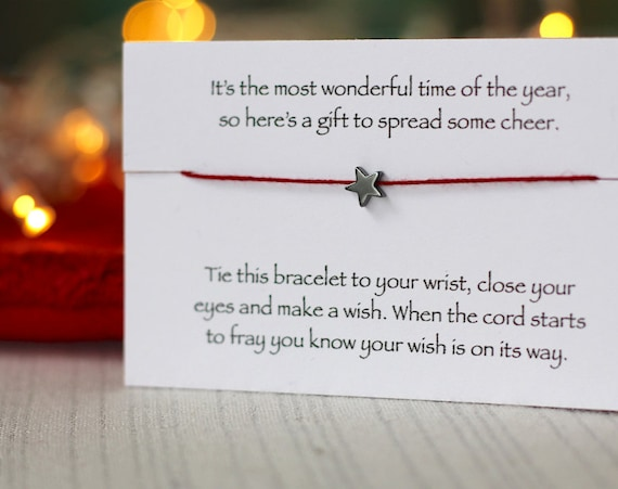 Christmas bracelet, stocking fillers, wish bracelet, friendship bracelet, Christmas gifts, Christmas stocking, Secret Santa Gift, xmas gift