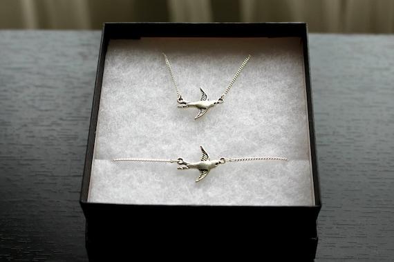 Swallow Necklace and Bracelet Set