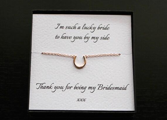 Horseshoe Bridesmaid Bracelet