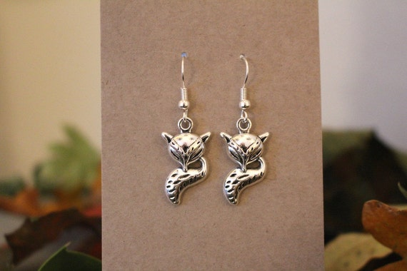 Sleeping Fox Earrings