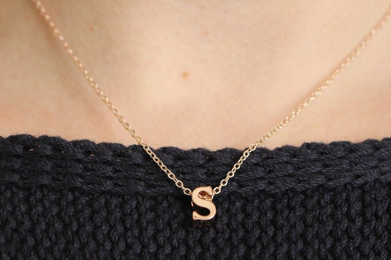 Lowercase Initial Necklace