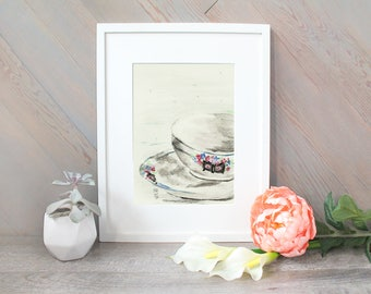 Lottie - Teacup Watercolor Print