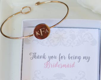 Initial Bracelet | Monogram Jewelry | Bridesmaid Gifts |  Bridesmaid Bracelets | Personalized Gifts | Monogram Bracelets | Weddings