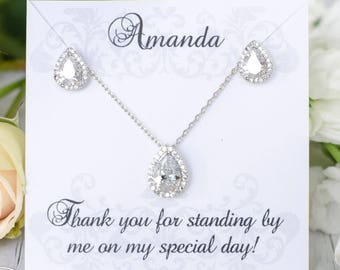 Bridesmaid Jewelry | Bridesmaid Gifts | Bridesmaid Earrings | Personalized Bridesmaid Gifts | Bridal Sets | Wedding Jewelry Sets