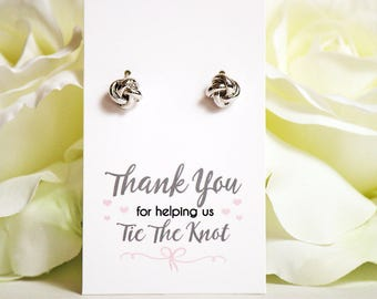 Love Knot earrings   Knot Earrings   Bridesmaid Gifts   Bridesmaid Jewelry   Love Knot Studs   Thank you for helping us tie the knot