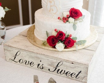 Rustic Wedding Cake Stand Etsy