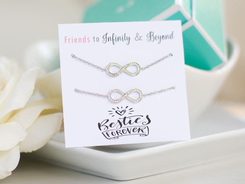 BFF gifts, Infinity Bracelet, Infinity Jewelry, Sister Gift, Bridesmaid  Gift, Best Friend Gift, Personalized Gifts, Friendship quotes