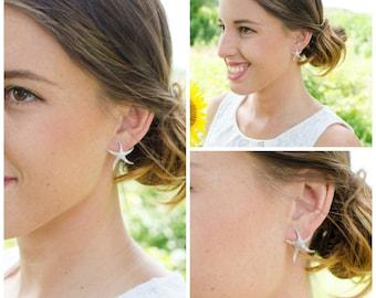 Starfish Jewelry | Beach Wedding | Starfish Earrings | Bridesmaid Gifts | Bridesmaid Earrings | Personalized Gift | Bridal Earrings