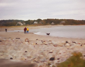 Dog on the Beach, Scituate, Massachusetts, Cape Cod Dogs, Pastels Photography