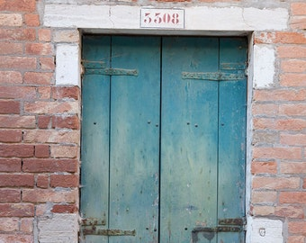 Venice, Italy Photography, Blue Doors, Rustic Italian, Italy Architecture