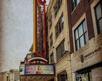 Theater Photo, Waitress, Retro building, Providence, Rhode Island, Theater