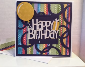 Happy Birthday Card with Balloon HB04