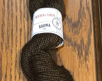 2 ply Rauma Ryegarn Norwegian Wool Rug Yarn #516 Heather Black