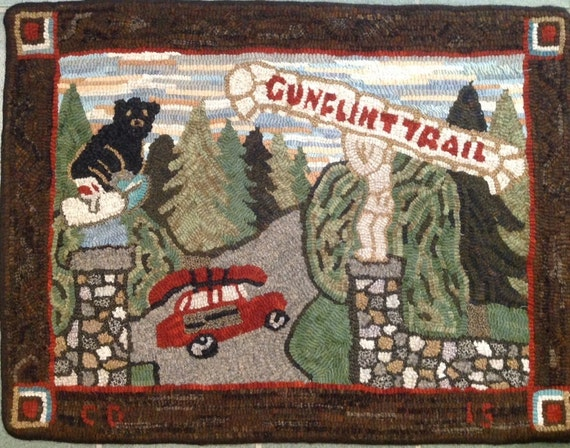 "Rug Hooking Pattern, ""Gunflint Trail"" 20""x 30""  P116"