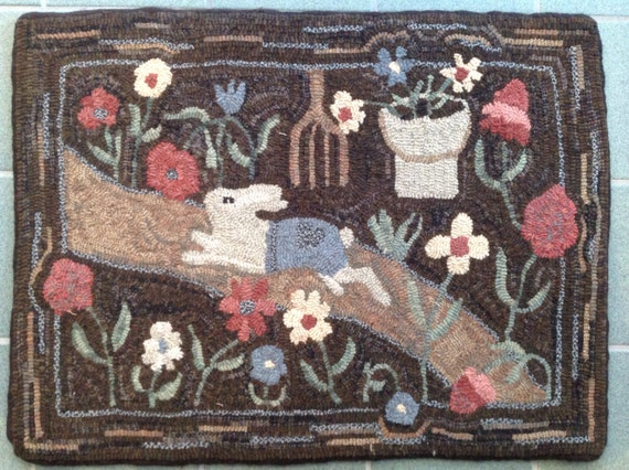 "Rug Hooking Pattern for Mr. M's Garden,  20"" x 28"", P113"