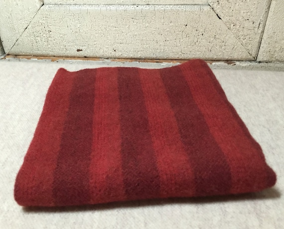 Old Glory Red, Mill  Dyed  Wool Fabric for Rug Hooking, Applique, Penny Rugs, Fiber Arts, Fat Quarter Yard  W229