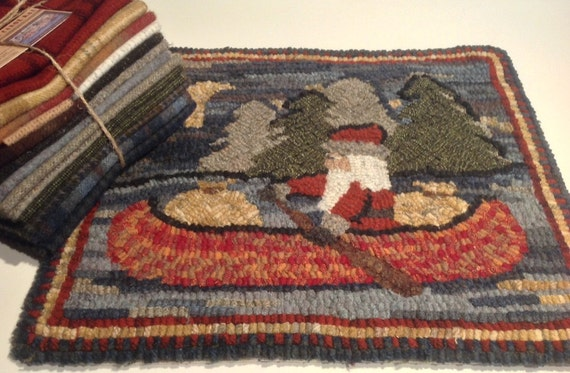 "Wool Pack for Northwoods Santa Hooked Rug, 14"" x 16"" WP109"