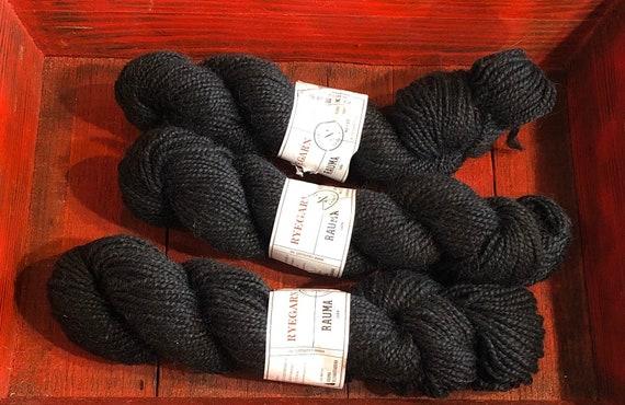 Norwegian Wool Rug Yarn, Rauma Ryegarn, Dark Charcoal #575