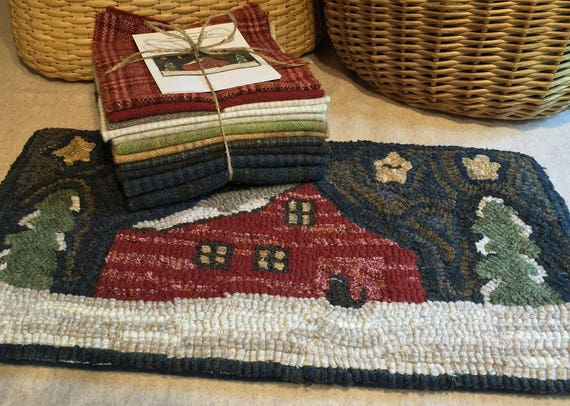 """Wool Pack for """"Grandpa's Granary""""  Wool Bundle for primitive rug hooking and applique WP102"""