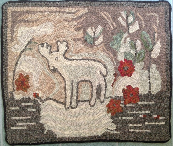 "Rug Hooking Pattern, Prince of the Forest,  20""x 22"" P139"