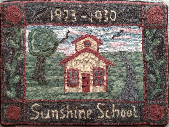 "Rug Hooking Pattern, Sunshine School, 18"" x 24"", P117"