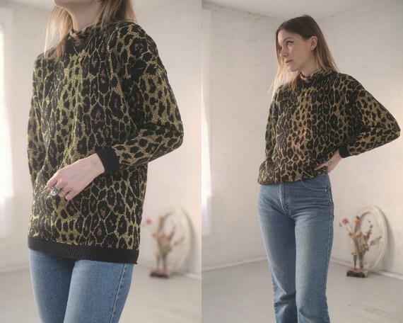 Metallic Leopard Knit