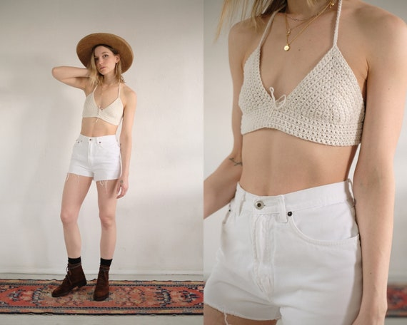 White Cut Off Shorts 26/27