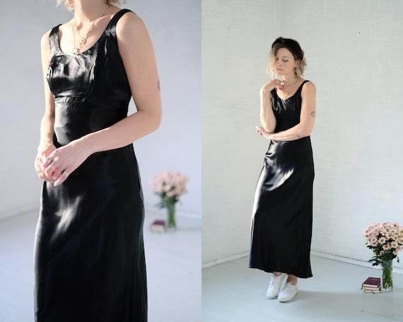 90s Liquid Satin Maxi Dress