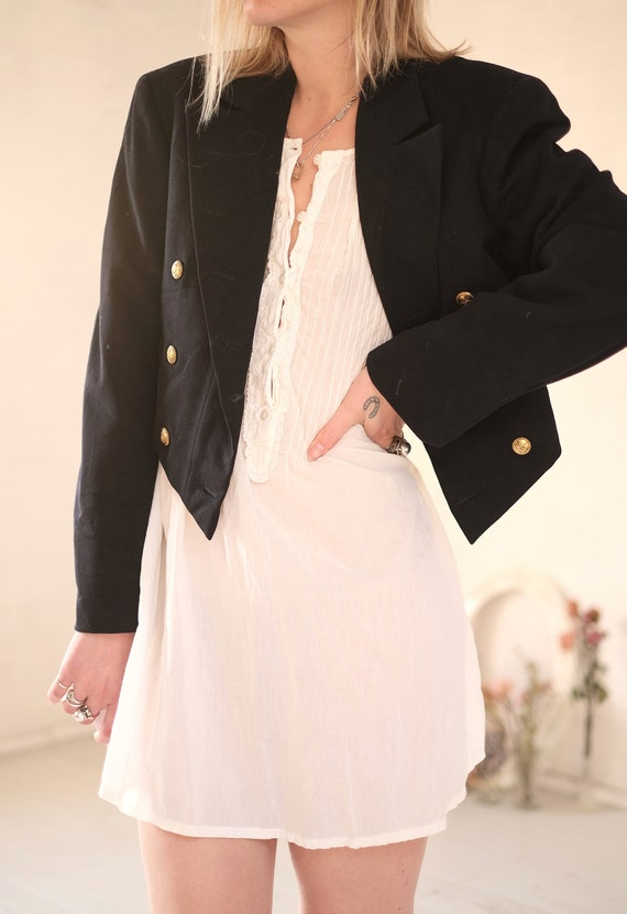 40s Crop Navy Coat  - image 7