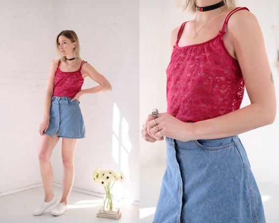 Cherry Lace Camisole