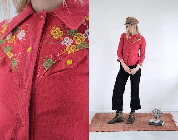 70s Embroider Shirt Jacket