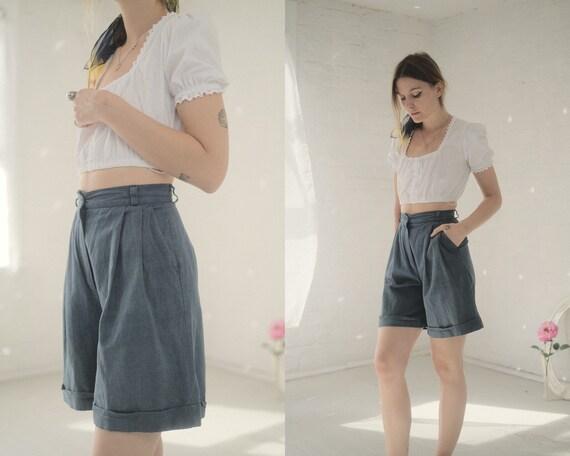 90s Linen Shorts