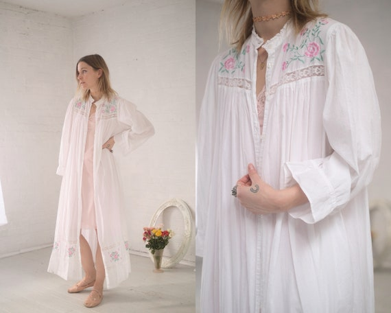 Rose Embroider Cotton Robe