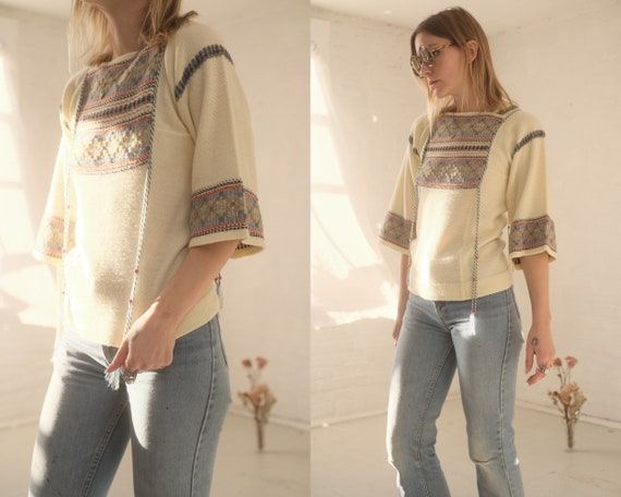 70s Bell Sleeve Knit