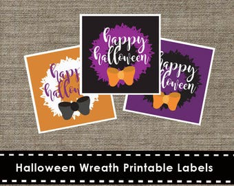 Halloween Wreath Printable Labels - DIY - The Studio Barn
