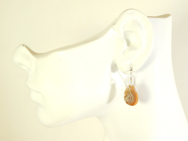 Crazy Lace Agate Earrings Slab Earrings Crazy Lace Agate and Sterling Silver Slab Earrings Crazy Lace Agate Statement Earrings