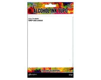 Alcohol Ink Yupo White 10PC, by Tim Holtz (TAC49715) - PA081