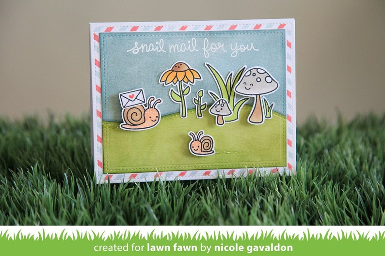 LF799 Gleeful Gardens CS397 Lawn Fawn Clear Stamps 4X6
