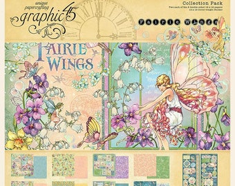 """Graphic 45 Fairie Wings Collection Pack 12""""x12"""" (G4502083)"""