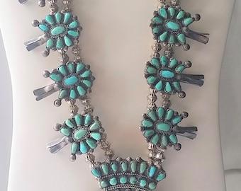 Vintage Petit Point Turquoise