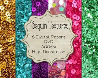 12x12 Printable Sequin Texture Scrapbook Papers, Textures Background 12x12 Inch Scrapbook Papers, Digital Paper, Digital Paper Packs Kit