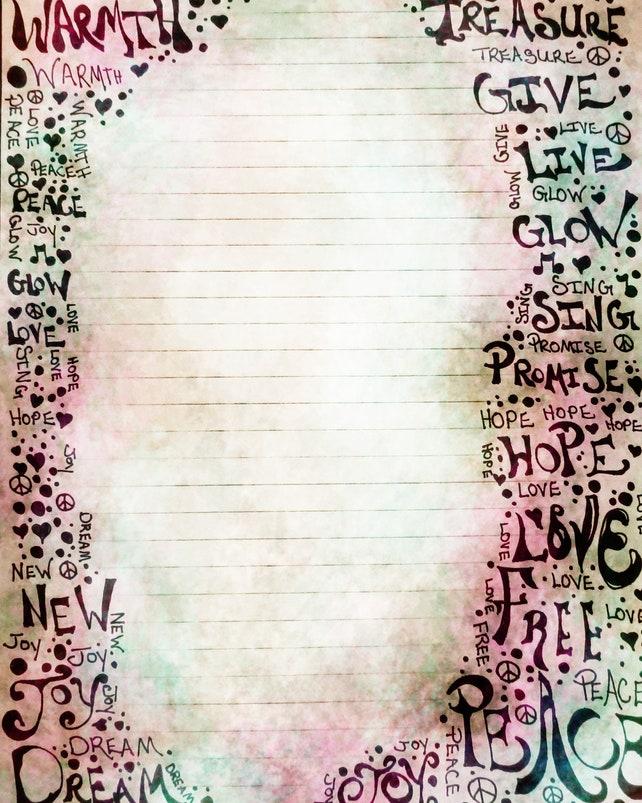 Página imprimible del diario arte de la palabra pluma y   Etsy
