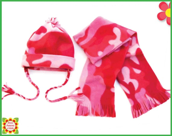 Serger Free Hat Scarf Sewing Pattern From New Born To Xxl Etsy