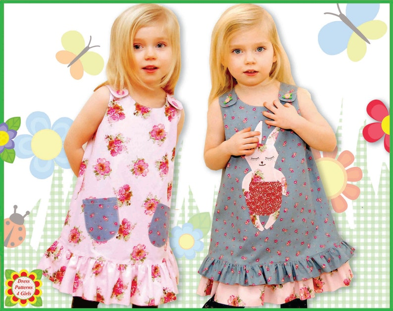 503e4977b Bunny Reversible Jumper Dress Pattern Free Mother-Daughter